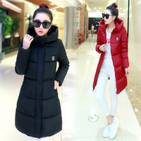 Wholesale Winter Women Long Warm Cultivate One s Morality Upset Down Jacket cotton padded jacket women s down Fashion Coat Female Padded Parka