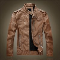 Wholesale Diamond men PU outdoor coats Fitness Faux Leather patchwork Thicken man jacket Winter Keap warm waterproof hombre overcoat