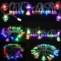 bell christmas lights - Chrismas decoration lightings tree deer bell Santa Claus led string lights RGB flash holiday lamps m leds v US plug V EU plug