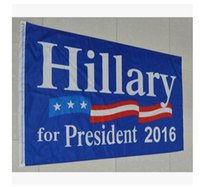 Wholesale 90 cm Hillary flag x5 Foot US Presidential Election Flag Hillary for President American Flag With Brass Grommets Freel Shipping