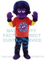 adult orangutan - purple orangutan mascot costume ape adult size custom cartoon character cosply carnival costume