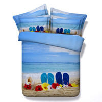 beach cleaning machine - 3D Blue Seaside Beach Sea Printed Bedding Sets Twin Full Queen King Size Bedspread Bedclothes Duvet Covers for Children s Boys Bedroom Decor