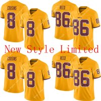 Wholesale Newest Cheap Limited Hot Sale NWT Redskins Kirk Cousins Reed Stitched Embroidery Logos America Football Jerseys Sweatshirts