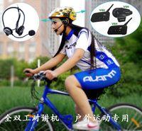 Wholesale Full duplex full duplex wireless intercom bicycle ski mountaineering aerial special Bluetooth intercom headset V6H