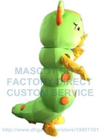 adult caterpillar costume - green Caterpillar mascot costume insect custom adult size cartoon character cosply carnival costume