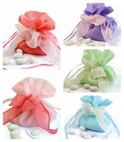 Wholesale Organza Wedding Favors Gifts Bags Candies Jewerly Pouch Holders Boxes Sachet Anniversary Birthday Shower Event Party Decoration Supplies