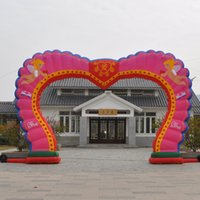 Wholesale 8 m inflatable arches wedding props heart shaped door