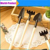 Wholesale Mini garden tools Reinforced gardening supplies practical set set three set shovel rake spade DHL Free