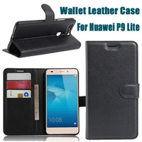 Cheap New For Huawei P9 Lite Photoframe Wallet Leather Case Cover With Credit Card Slot Money Pocket Flip Photo Frame Stand DHL SCA154