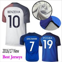 Wholesale Top Quality Hot New Franced Home Away Soccer Jersey Maillot DE Foot Shirt survetement Football Short Tracksuit