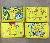 Wholesale New Cartoon Anime Pocket Monsters Pikachu Coin Purse Children Zip Change Purse Wallet Movie Kids Girl Women Pouch Bolsa For Gift