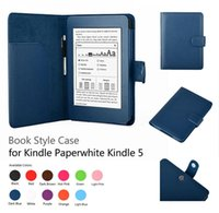 amazon kindle paperwhite cover - Luxury Flip PU Leather Case Smart Cover With Stylus Holder Stand For Amazon Kindle Paperwhite