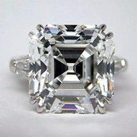 asscher cut settings - 2 Ct GIA Certified Asscher Cut Stone Diamond Engagement Ring Platinum