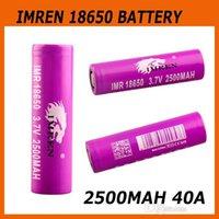 Wholesale IMREN Battery mah mah A Rechargeable IMR Battery VTC5 INR18650 R battery fit RX200 Kbox w Cuboid W