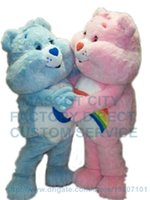 adult care bear costume - care bear mascot costume adult size factory custom piece blue pink care bear them anime cosply costumes carnival fancy dress
