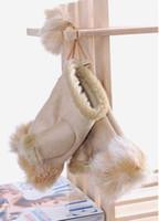Wholesale rabbit fur gloves lady s winter fingerless gloves hand wrist keyboard glove half fingers snow gloves WY96 P