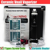 Kit portable céramique VNail sec Herb Wax vaporisateur à base de plantes dab chambre Titanium dabber Coil 18650 batterie bongs ecigs en verre bong Vape Nail DHL