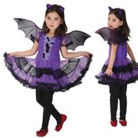 bat girl costume - Halloween Clothing Lovely Dresses Fancy Masquerade Party Bat Girl Cosplay Costume Children Dance Dress Costumes for Kids