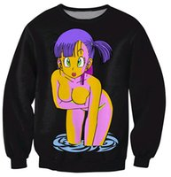 Wholesale Special Edition Blue Black Bulma Sweatshirt Women Men Cartoon Sexy Character Sweats Fashion Clothing Jumper Outfits Sport Tops