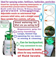 backpack pressure sprayer - L Garden Hand Pressure Backpack Sprayer Watering Can Pump Sprayer Good watering kit what are you waiting for