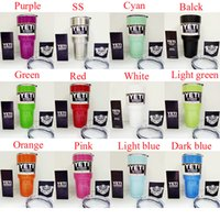 Wholesale 800ml Yeti oz YETI Coolers cups oz powder Coated stainless steel YETI Rambler Tumbler Travel Vehicle Beer Mug Bilayer oz cup