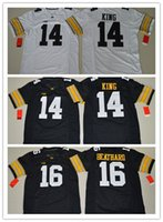 Wholesale 2016 New Style Stitched Jersey New Iowa Hawkeyes Desmond King C J Beathard Black White College Football Jersey