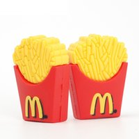 Wholesale Cute French Fries Shape USB Flash Drive gb gb USB pen drive Memory Stick pendrive U Disk with Gift Box