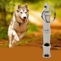 Wholesale 100pcs Metal Pet Dog Training Adjustable Ultrasonic Sound Whistle Stainless Steel Dog Training Tool