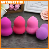 Wholesale Non latex Calabash And Cucurbit Powder Puff Makeup Sponge Cosmetic Puff Flawless Powder Enlarge Darker Color when Wet Without Rubber Smell