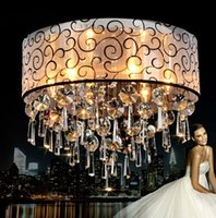 Wholesale Modern Luxury K9 Round Crystal Chandelier Lustres de crystal Ceiling lamp European Style Home Decorative Light Fixture Lamp