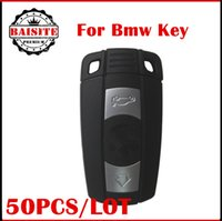 Wholesale Complete Full set bmw remote key buttons for BMW key Series With ID7944 Chip battery and bmw logo