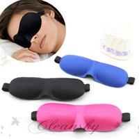 Wholesale Fedex DHL Free Travel Rest D Sponge Eye MASK Black Sleeping Eye Mask Cover for health care to shield the light Gift Z211