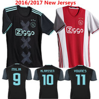 ajax shorts shirts - 2016 Ajax Soccer Jersey Ajax Home Red Maillot de foot Klaassen MILIK SCHONE Football Shirt Bazoea Black camisetas de futbol Top Quality