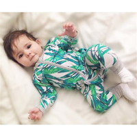 bamboo romper - Baby Jumpsuits Bamboo Leaves Autumn Winter INS Popular Cotton Infant Clothes Romper Long Sleeve Newborn Climbing Outwear Fashion Designer