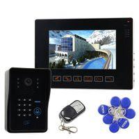 bell vision system - 9 inch Video Door Phone Door Bell Intercom System IR Night Vision Camera With Keypad Remote Control CCTV Camera MJIDS11
