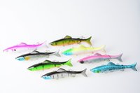 Cheap 40pcs 12.5CM 17.7G 4#hook fishing lures plastic minnow jointed segmented pike bass fishing baits isca de pesca fishing tackles