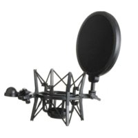 Wholesale High Quality Microphone Mic Professional Shock Mount With Pop Shield Filter Screen R1BO Cheap mounting a rifle scope