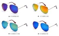 ac plate - Fashion Unisex Sunglasses with AC Plated Huge Lenses Colorful Frame and Lens Metal Full Frame High grade Material Anti UV and Anti Glare