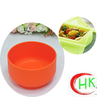Wholesale Healthy environmental food grade silicone rice bowl high temperature easy to clean anti drop tableware children are adults