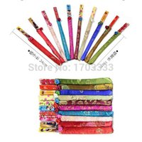 Wholesale Classic Chinese Traditional Handmade Vintage Bamboo Chopsticks Silk Covers Gift Wedding Favor