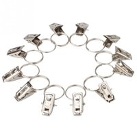Wholesale 20pcs Hot Sell Window Shower Curtain Stainless Steel Rod Clips Rings Drapery Clips