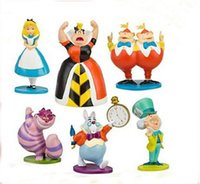 Wholesale Alice in Wonderland Action Figures Model Collection Model doll toys action figure decoration toys children best festival gifts set