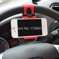 Wholesale Car Steering wheel phone Universal Mount Holder Stand for Cell Phone GPS