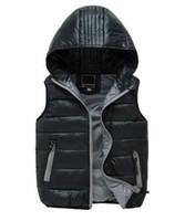 Wholesale 2017 Children s Outerwear Boy and Girl Winter Warm Hooded Waistcoat Children Cotton Padded Down Jackets Kid Waistcoats Years W569
