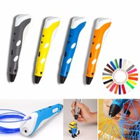 Wholesale Magic d printer pen Drawing With free M ABS filament painting graffiti D Printing d pens for kids birthday present Useful gifts