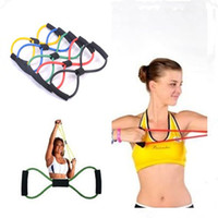 Wholesale 5 Colors Men Women Shaped Chest Developer Fitness Yoga Resistence Band Elastic Pilates Tube Rope Sports Workout Exercise Equipment Tool
