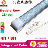 ballast for lighting - Integrated ft T8 led tubes lights W Double Rows LEDs mm led tube for Cooler Lights AC85 V ballast compatible led tubes
