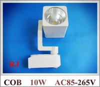 Wholesale Epistar chip COB LED rail spot light tracking LED light track lights W COB led W AC85 V aluminum CE ROHS FCC