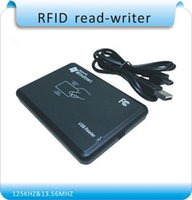 Wholesale KHZ MHz two frequency RFID Reader Writer RFID copier USB Avoid driving English software ISO14443A