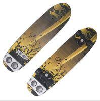 Wholesale 28 quot Fashion Skate board Wooden Fish Board Speed Cruiser Skateboard Maple Four Wheel Street Mini Longboard